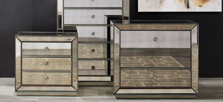Mirrored Furniture Zgallerie, Mirrored Furniture Set